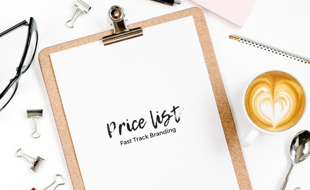 Fast Track Branding Price list